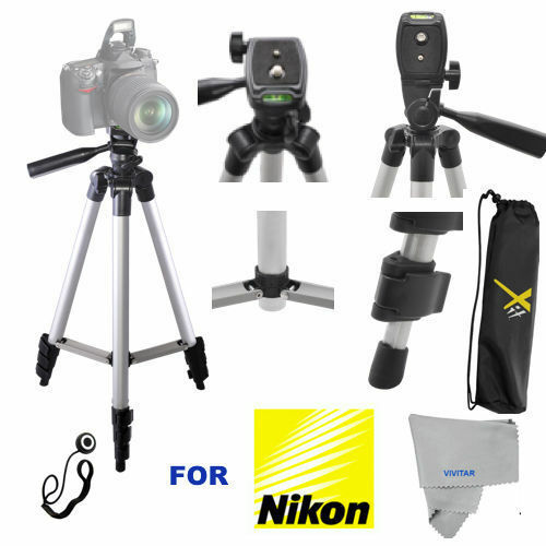 "50"" FULL SIZE PRO SERIES TRIPOD FOR NIKON D3400 D5500 D5600 D7100 D7200  D610"