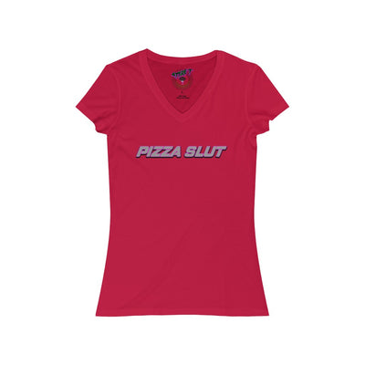 Pizza Slut V-Neck Tee - Attire T