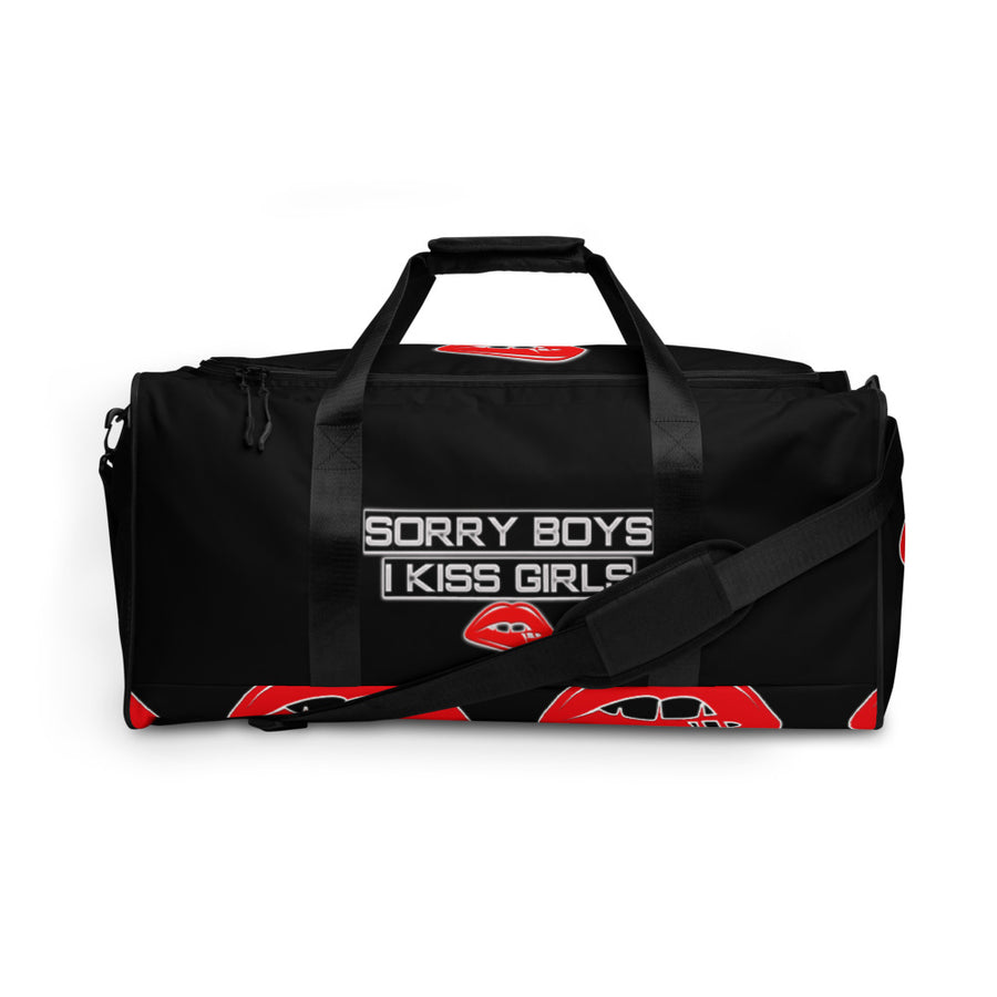 Sorry Boys I Kiss Girls Custom Duffle bag