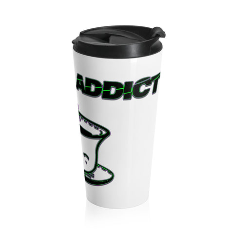 Coffee Addict Stainless Steel Travel Mug - Attire T