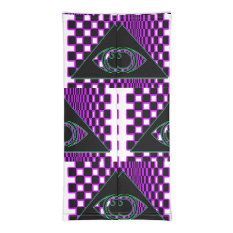 The Illuminated One Purple Neck Face Mask - Attire T
