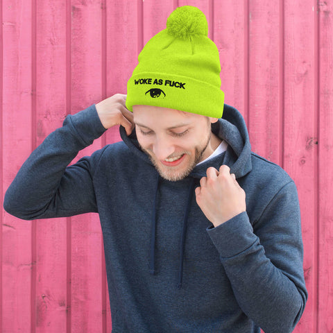Limited Edition Woke As Fuck Pom-Pom Beanie - Attire T