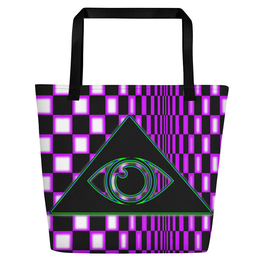 The Illuminated One Purple Beach Bag
