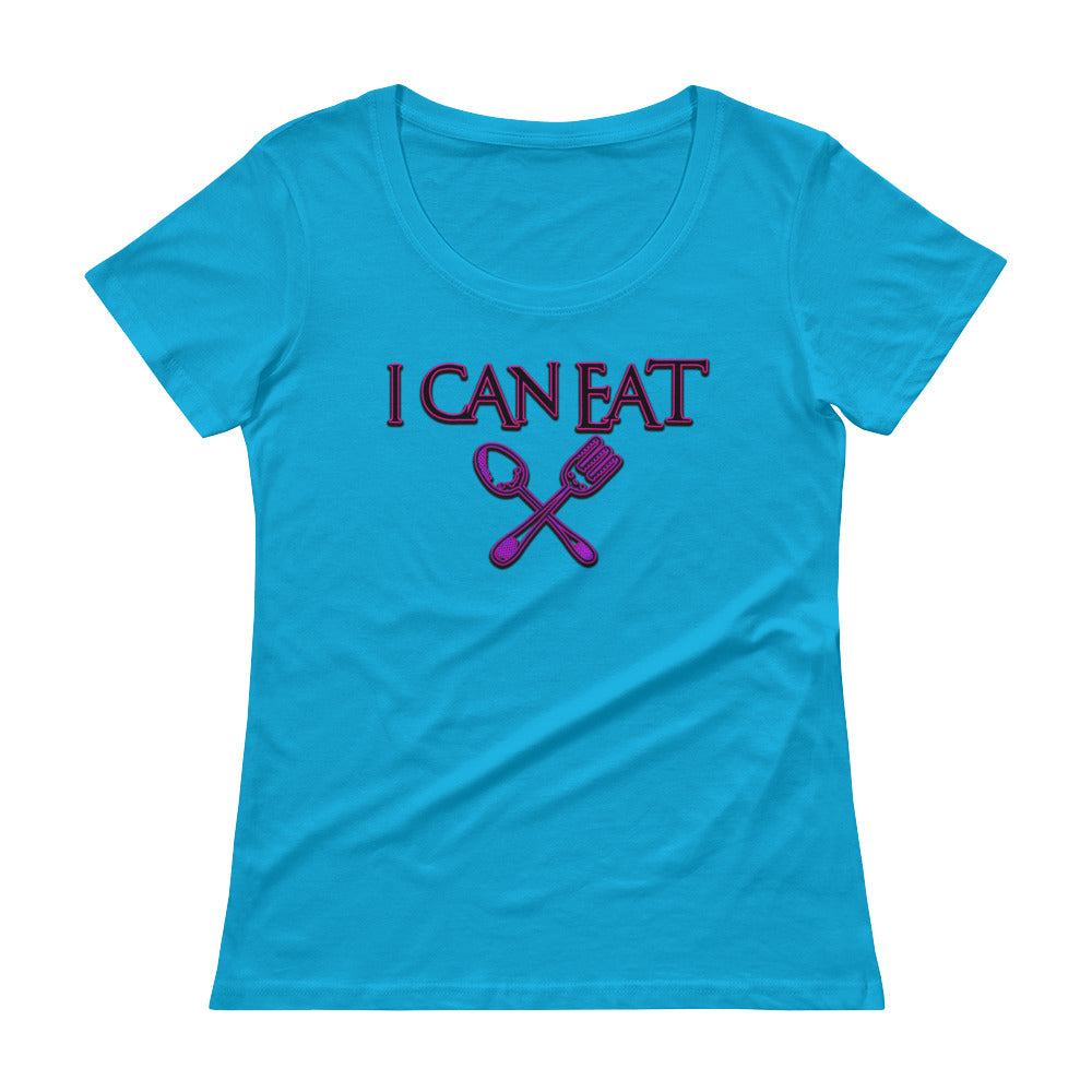 I Can Eat Scoopneck T-Shirt - Attire T