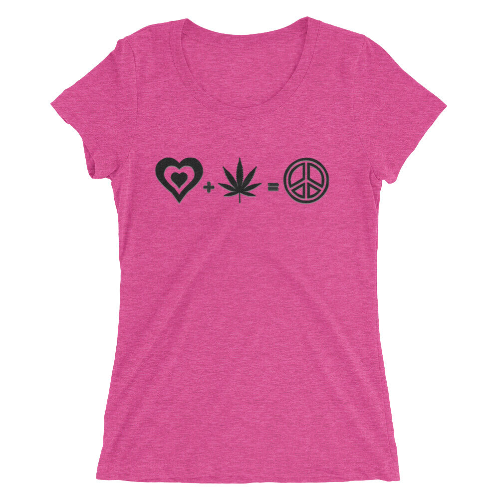 Love + Herb = Peace short sleeve t-shirt - Attire T
