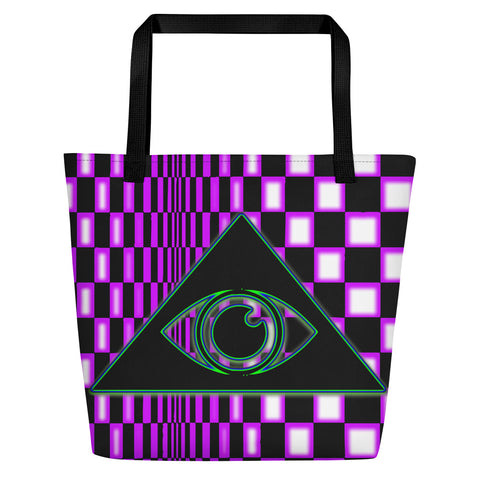 The Illuminated One Purple Beach Bag - Attire T