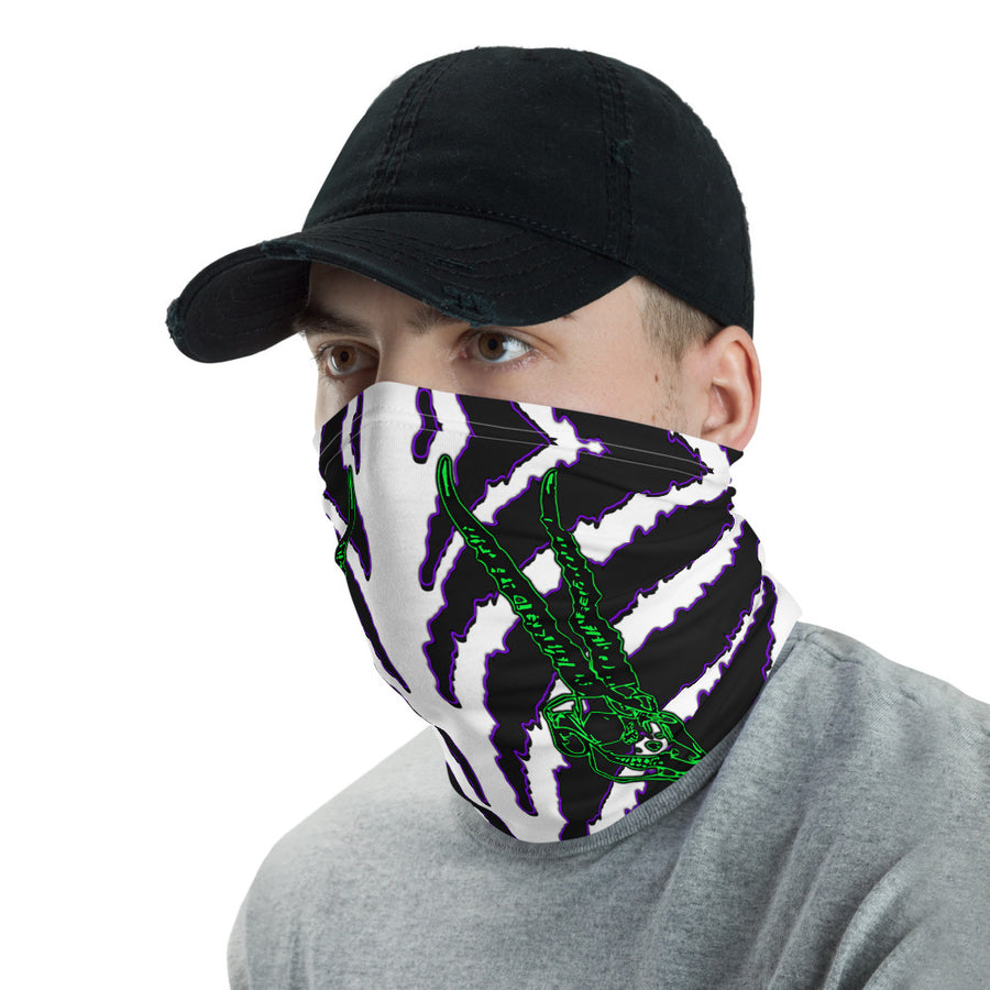 Horned Zebra Purple Face Mask Neck Cover