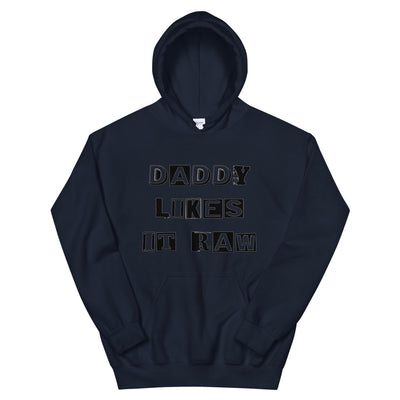 Daddy Likes it Raw Men Hoodie