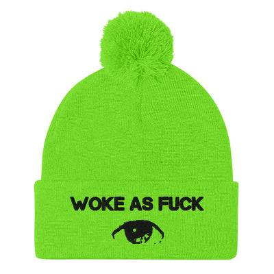 Limited Edition Woke As Fuck Pom-Pom Beanie