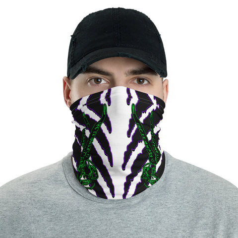 Horned Zebra Purple Face Mask Neck Cover - Attire T