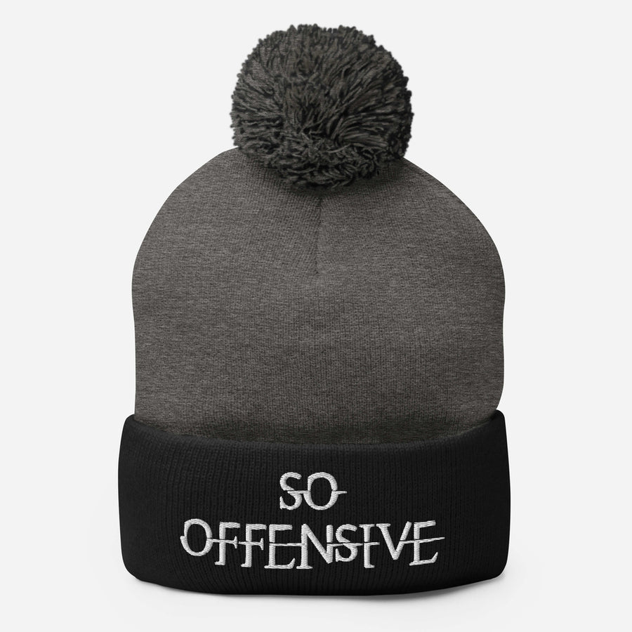 So Offensive Pom-Pom Beanie Hat
