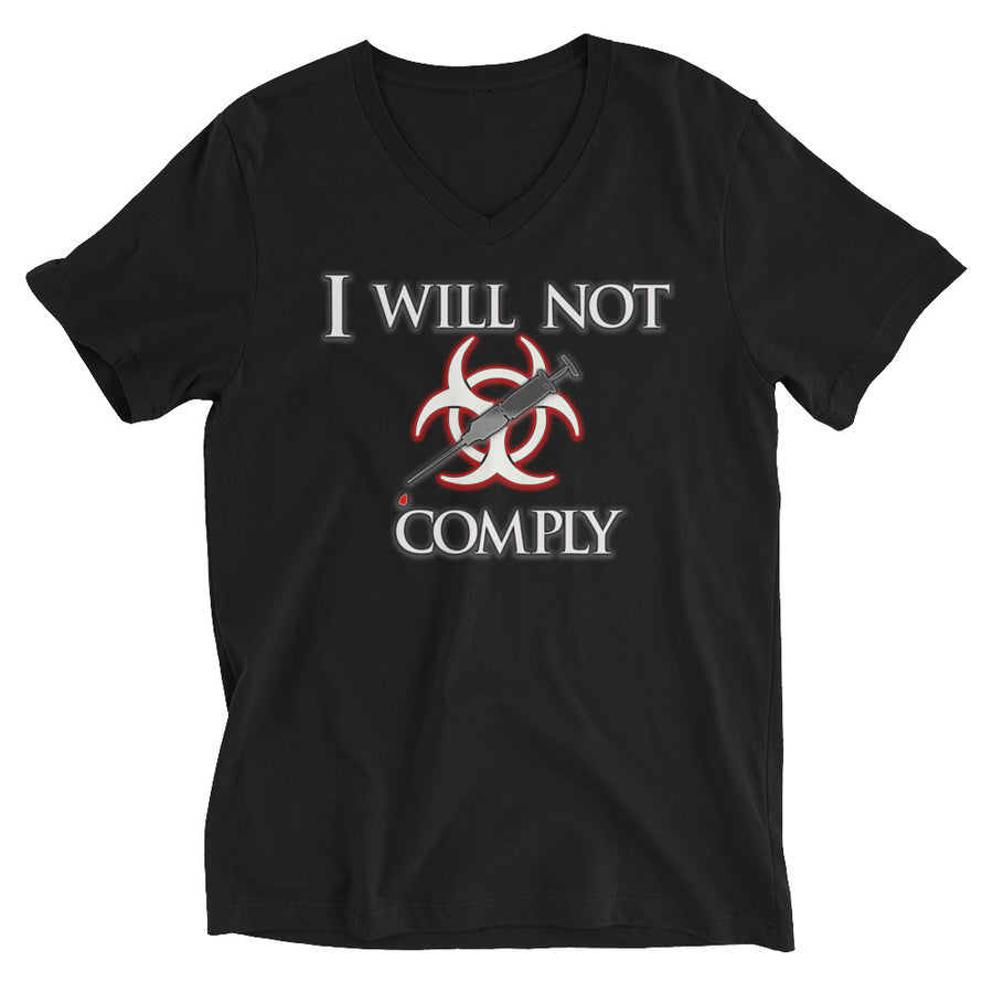 I Will Not Comply V-Neck T-Shirt - Attire T