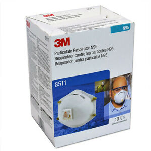 3M N95 Respirator Mask with Valve- 8511 (10 pack) - Minoo Corporation