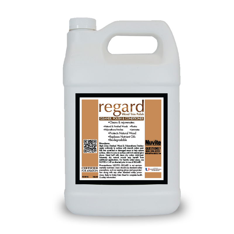 Regard Wood Trim Cleaner, Polish & Conditioner (Pint - 473ml) - Minoo Corporation