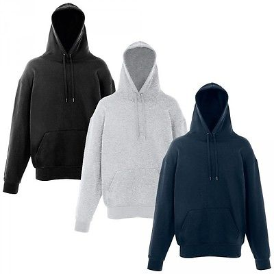 Fruit of the Loom unique Hoodie Kapuzenpullover doppelte Kapuze S, M, L, XL, XXL