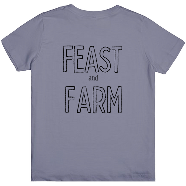 Feast and Farm Minimalist Logo Kids Tee