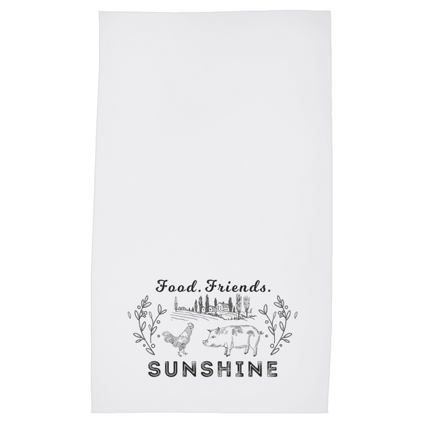 Food Friends Sunshine Tea Towel