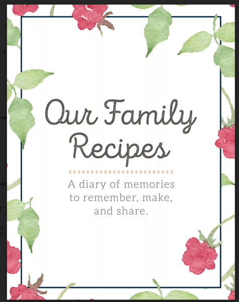 The Heritage Family Recipe Binder