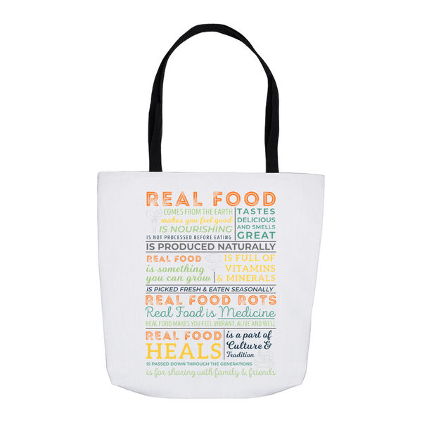 Real Food Manifesto Tote Bag