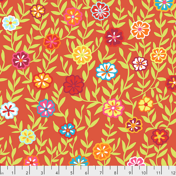 Kaffe Fassett - February 2020 - Busy Lizzy - Red