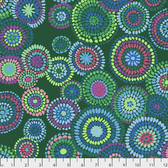 Kaffe Fassett - February 2020 - Mosaic Circles - Green