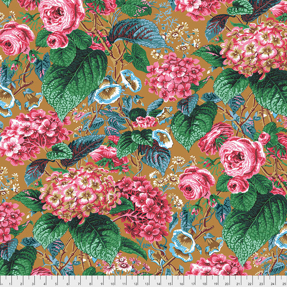 Kaffe Fassett - February 2020 - Rose and Hydrangea - Ochre