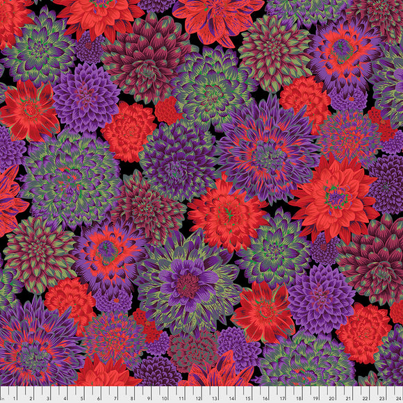 Kaffe Fassett - August 2020 - Dancing Dahlias - Dark