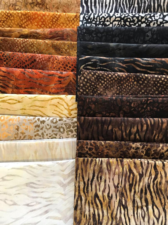 Robert Kaufman - Serengeti Batik Fat Quarter Bundle