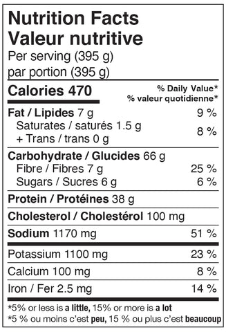 Nutrition Facts - Lemongrass Chicken Pho with Enoki Mushrooms and Aromatic Chicken Broth