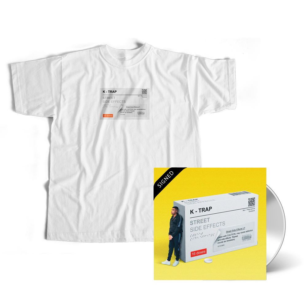 Signed Street Side Effects CD + White Tee