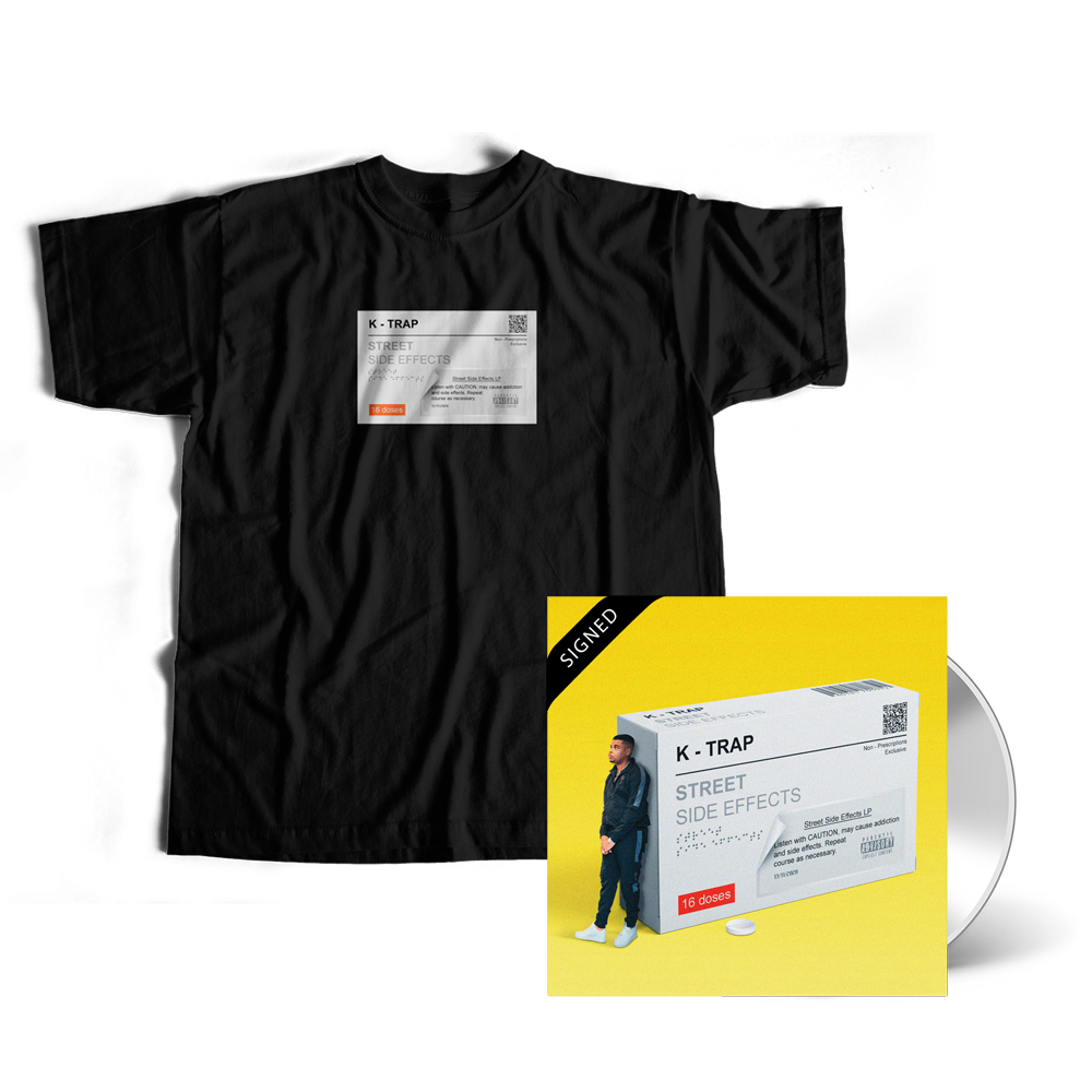 Signed Street Side Effects CD + Black Tee