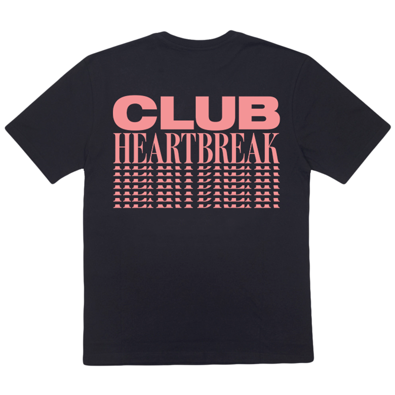 Club Heartbreak Repeater Tee - Black and Pink