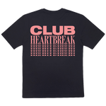 Load image into Gallery viewer, Club Heartbreak Repeater Tee - Black and Pink