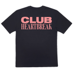 Load image into Gallery viewer, Club Heartbreak Tee - Black and Pink
