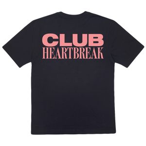 Club Heartbreak Tee - Black and Pink