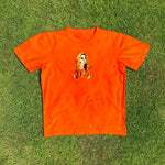 Load image into Gallery viewer, Delilah Montagu Portrait Orange Tee