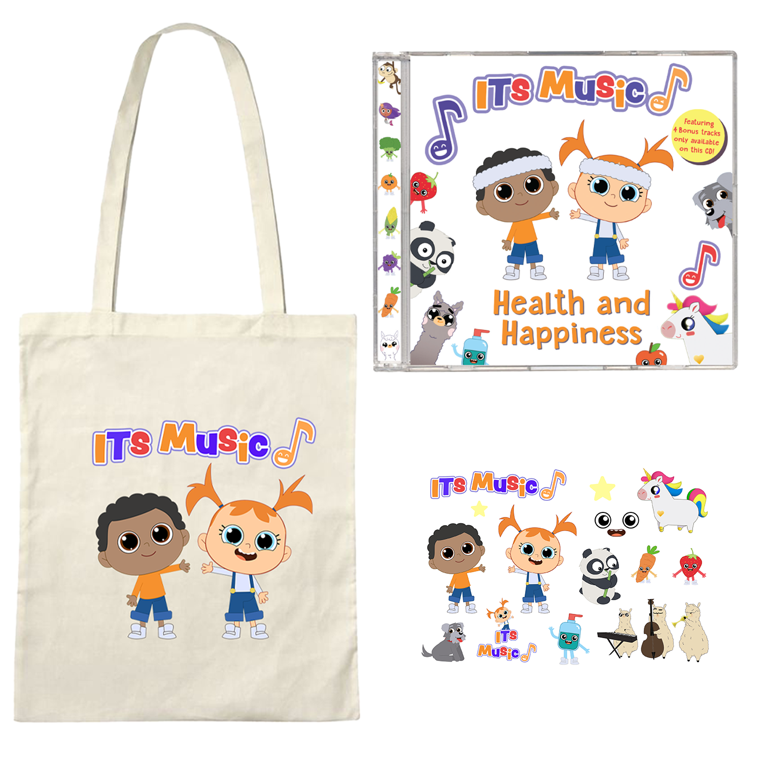 ITS Music CD + Stickers + Tote Bundle