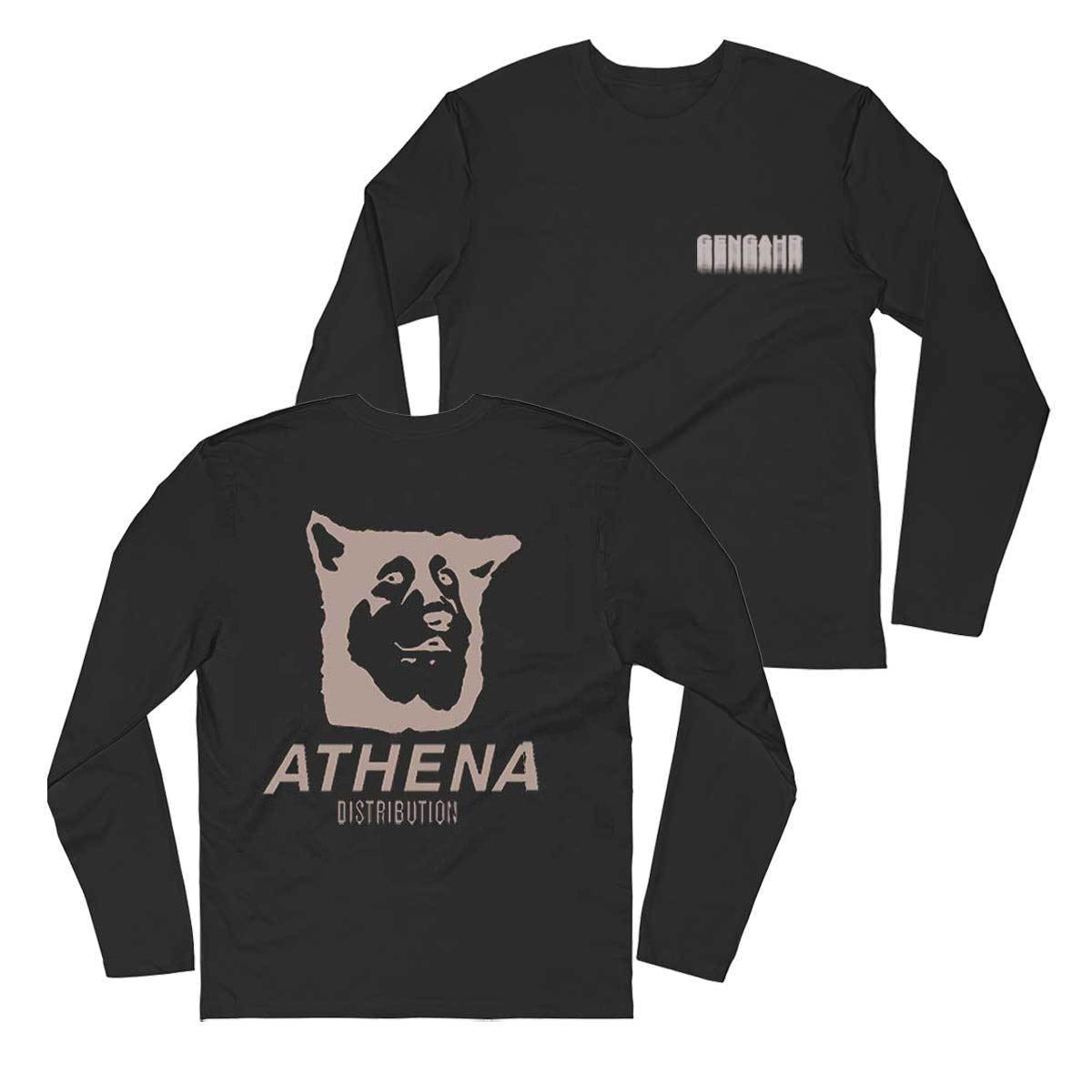 Athena Long Sleeve Black Tee