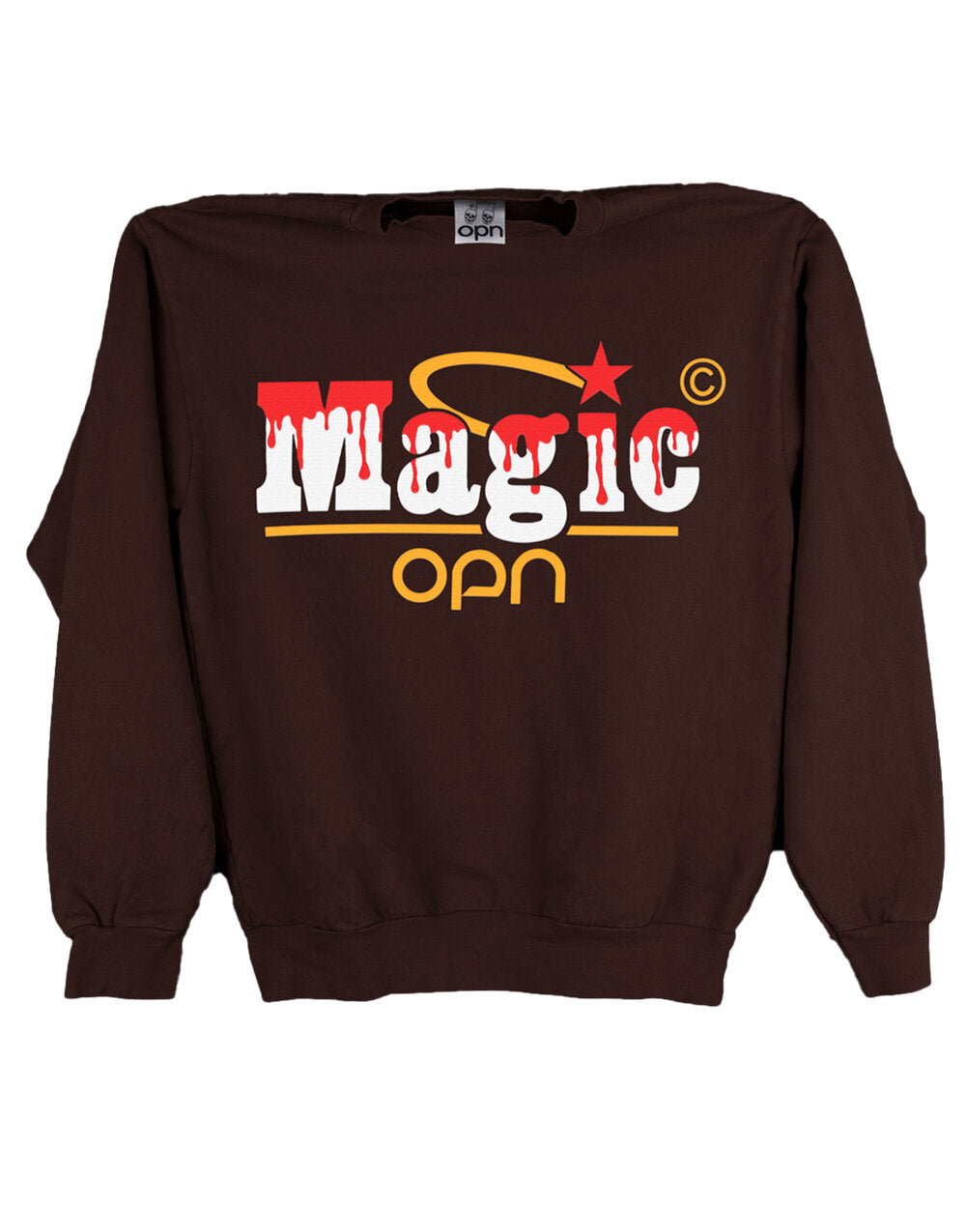 Magic Logo Brown Sweatshirt (OPN x Online Ceramics)