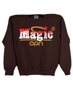 Load image into Gallery viewer, Magic Logo Brown Sweatshirt (OPN x Online Ceramics)