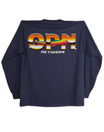 Load image into Gallery viewer, Skull Navy Longsleeve (OPN x Online Ceramics)