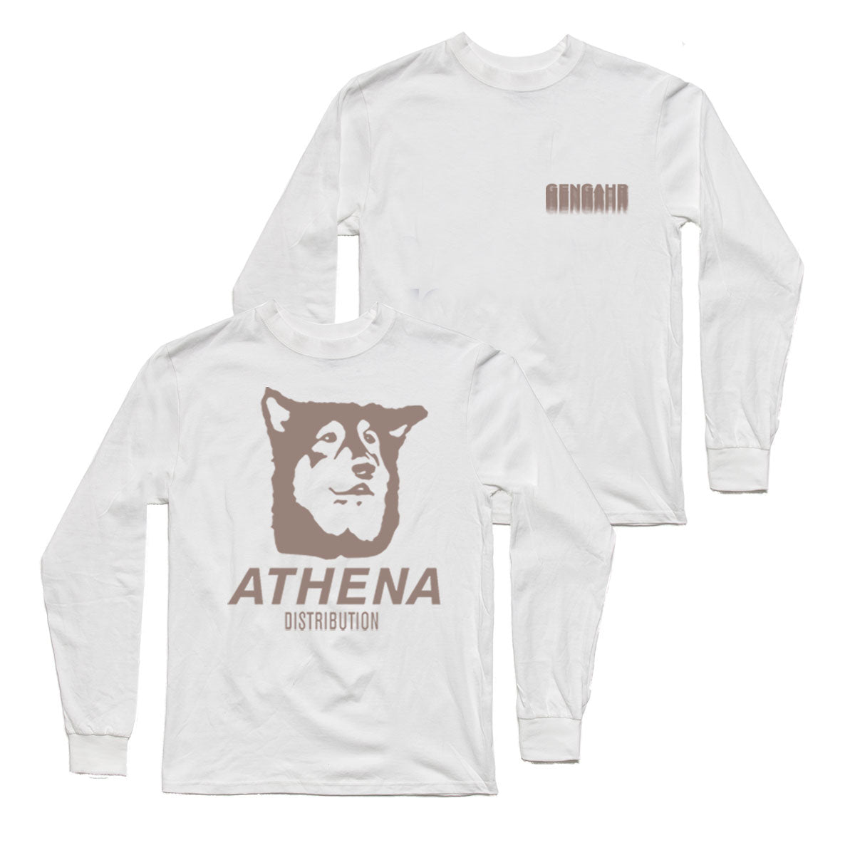 Athena Long Sleeve White Tee