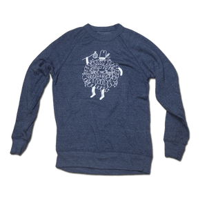 Bearded Man Sweatshirt Heather Grey/Blue