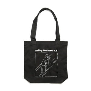 Escalator Girl Tote Bag