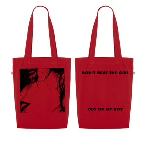 Don't Beat The Girl Red Tote
