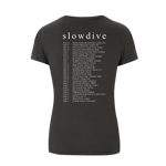 Load image into Gallery viewer, Logo Tour Charcoal T-shirt (Ladies)