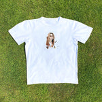 Load image into Gallery viewer, Delilah Montagu Portrait White Tee