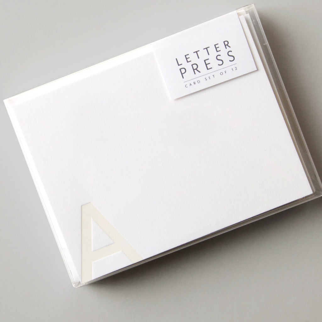 """Letter"" Press Card Set"