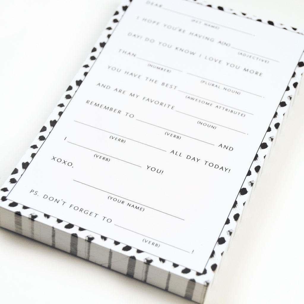 Mad Lib Notepad