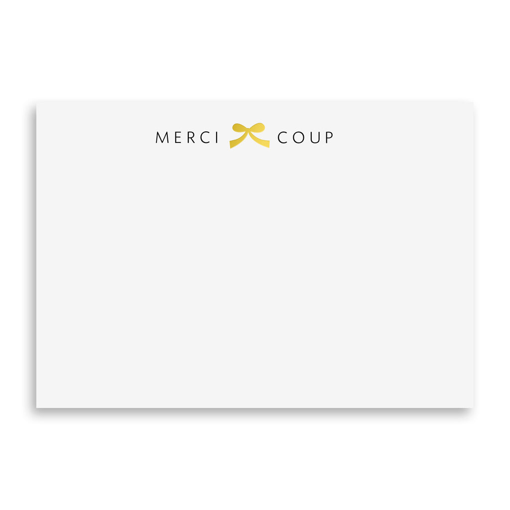 "Merci ""Bow"" Coup - Gold Foil"